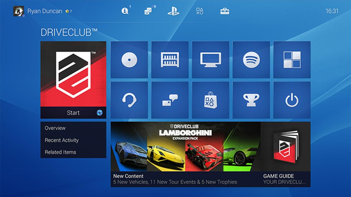 PS4 UI Redesign