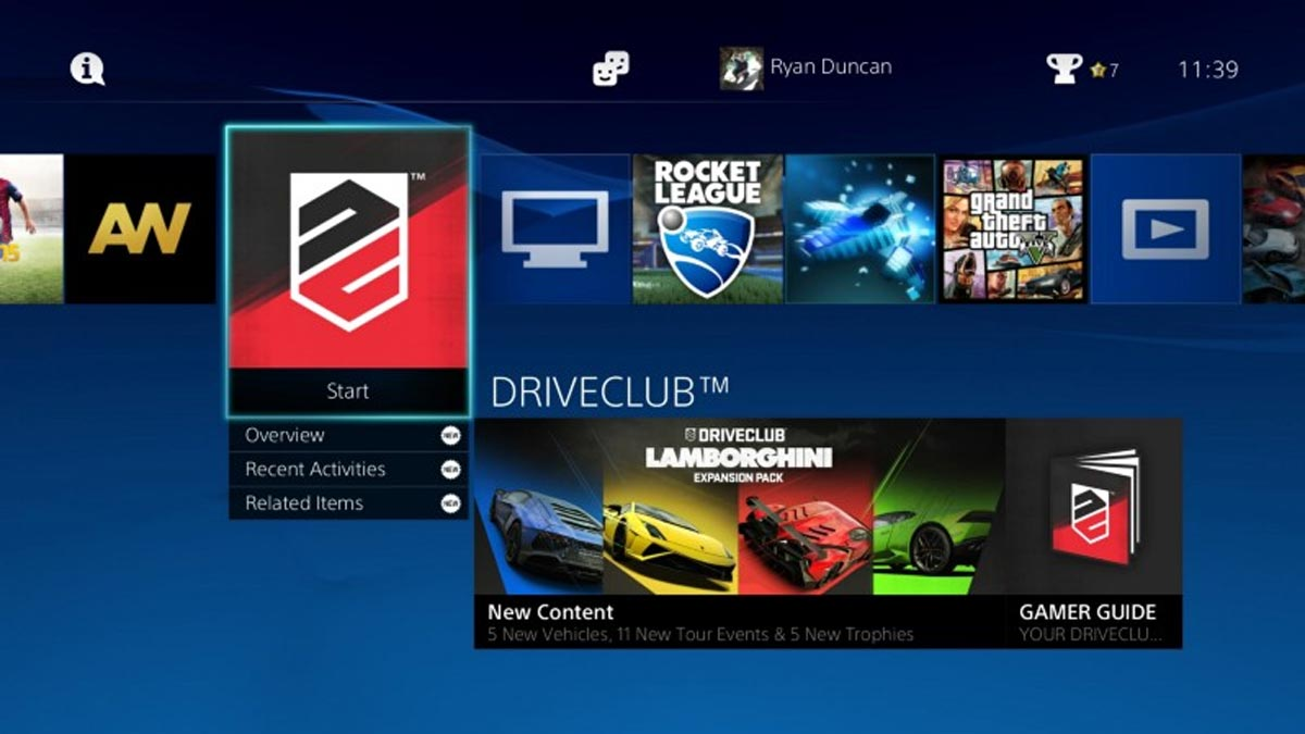 PS4 UI Original