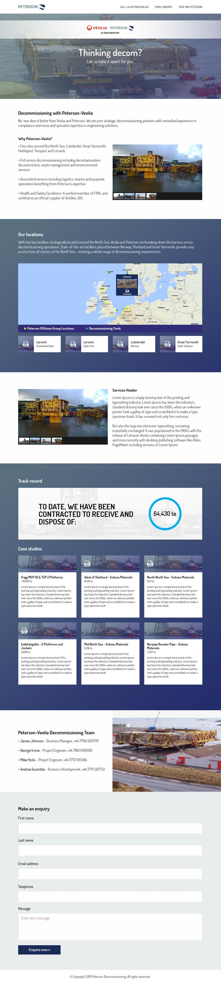 Veolia Peterson Landing Page